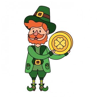 Leprechaun with coin
