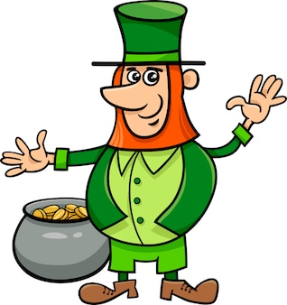 Leprechaun with pot of gold
