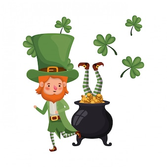 Leprechauns with cauldron avatar character