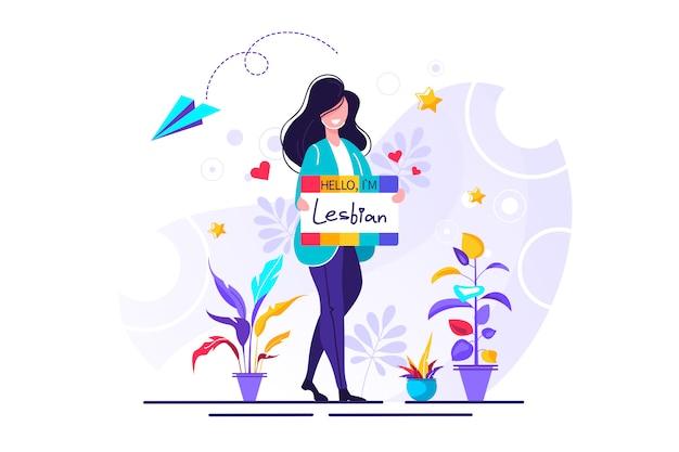 Lesbian illustration