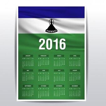 Lesotho calendar of 2016