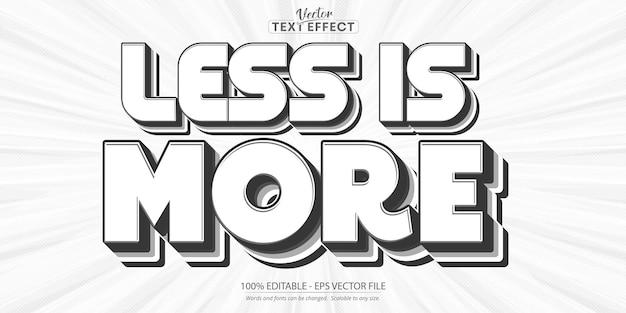 少ないほど多くのテキスト、最小限のテキストスタイル、編集可能なテキスト効果