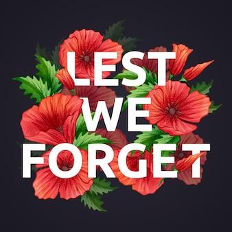 Per non dimenticare la frase sui fiori rossi