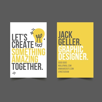 Let's create something amazing business card template