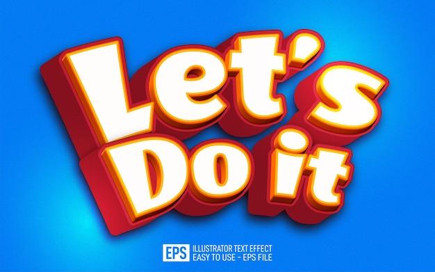 Let's do it text, 편집 가능한 일러스트레이터 텍스트 효과