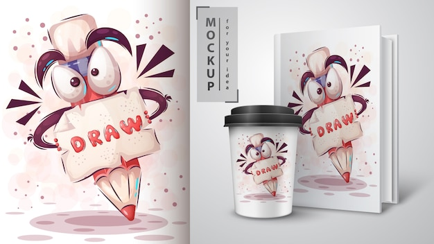 Let's draw illustration and merchandising