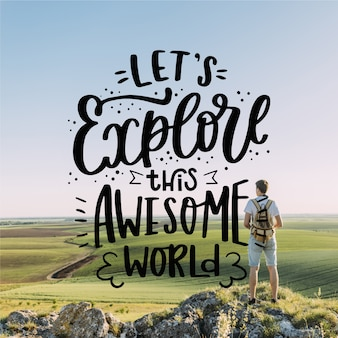 Let's explore this awesome world lettering