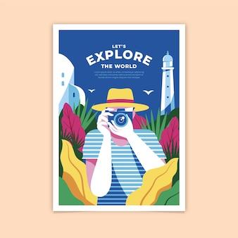 Let's explore the world poster