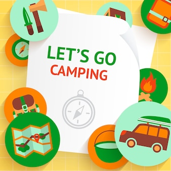 Let's go camping, summer holidays