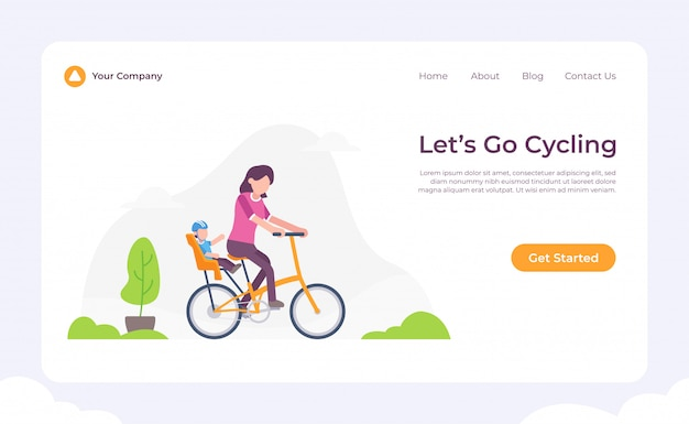 Let's go cycling landing page