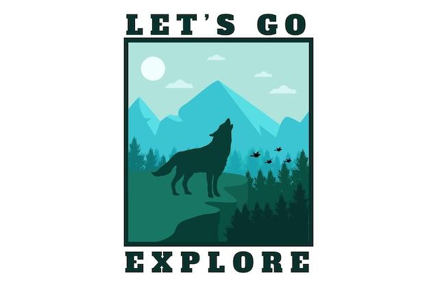 Let's go explore flat illustration design