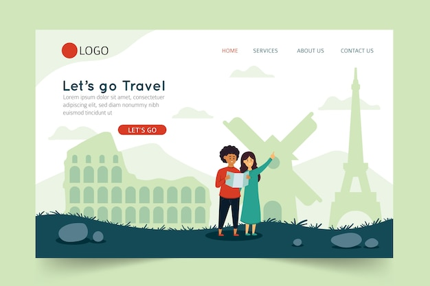 Let's go travel landing page