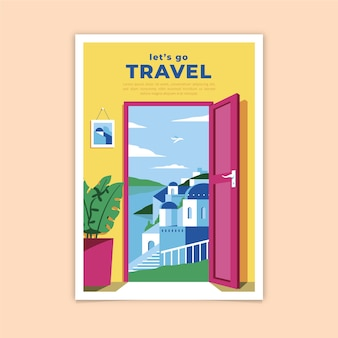 Let's go travel poster