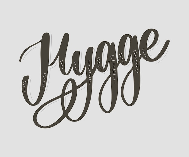 Let's hygge, inspirational quote for social media and cards