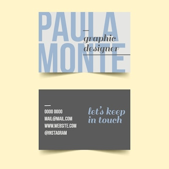 Let's keep in touch business card template