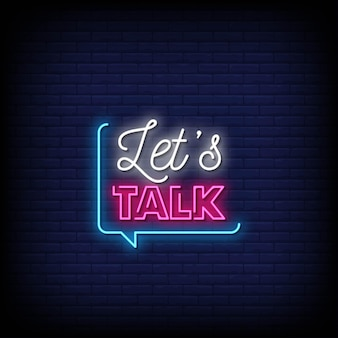 Let's talk neon signs style text