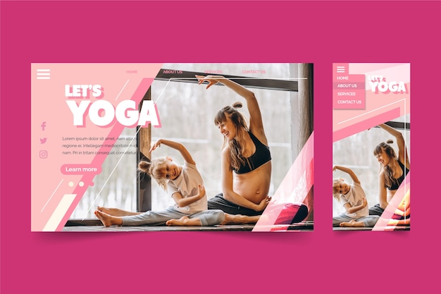 Let's yoga classes landing page