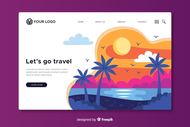 Let us go travel landing page