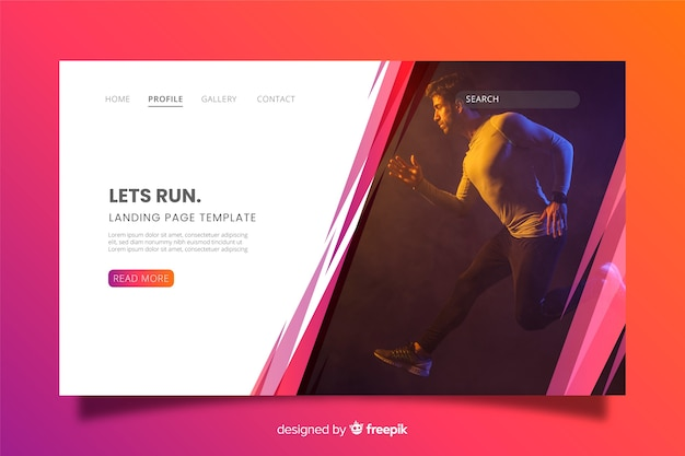 Let us run sport landing page