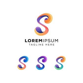 Современный красочный логотип leter s