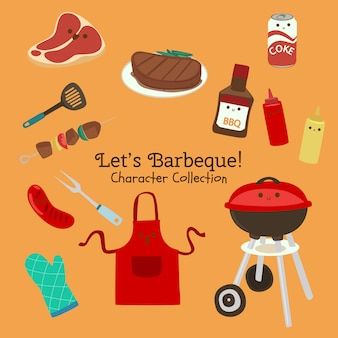Lets barbeque character collection
