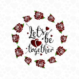 Позволяет быть вместе Цветочная рамка фон
