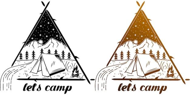 Lets camp monoline minimalist