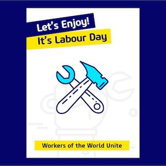 Наслаждайтесь своим рабочим днем плакат дизайн