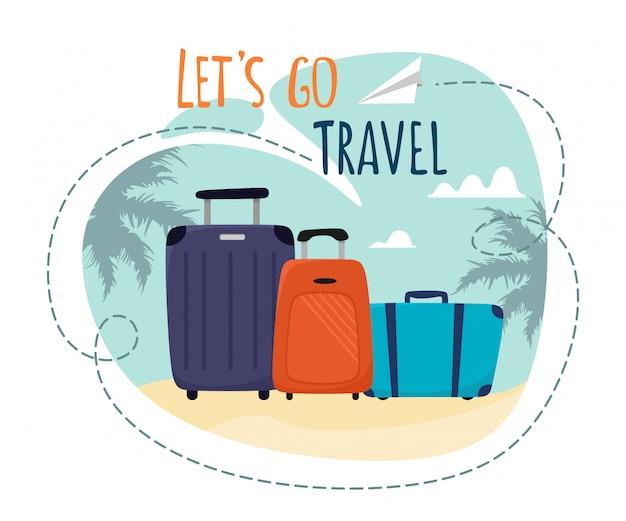 スーツケースを使って、モチベーションの高いタイトルを旅行しましょう