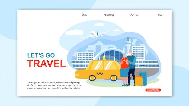Информационный флаер написан lets go travel.