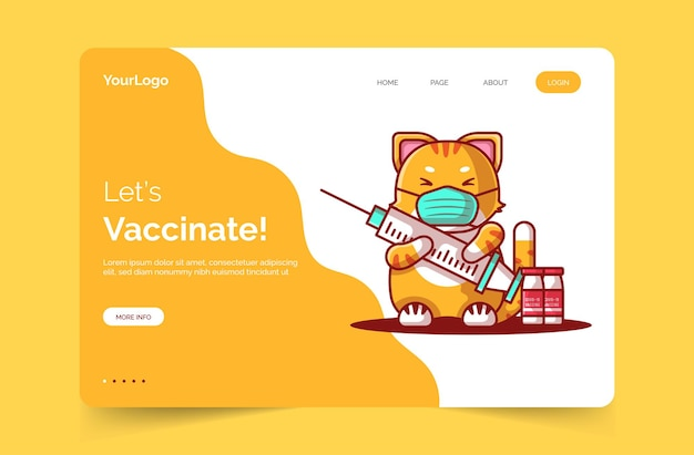 Lets vaccinate landing page template