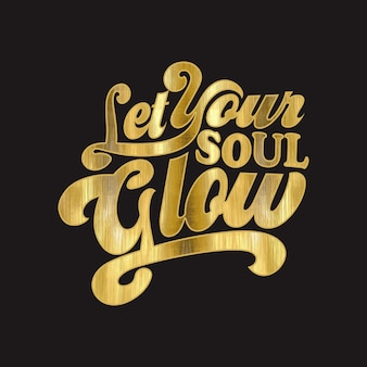 Lets your glow text typography