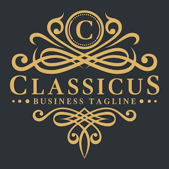 Lette c - classic luxurious logo template