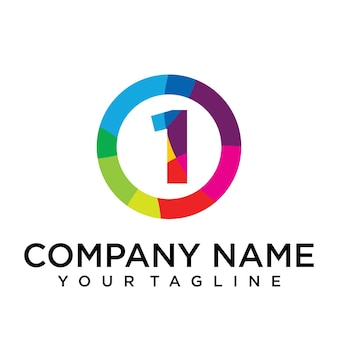 Letter 0 logo design template. colorful lined creative sign