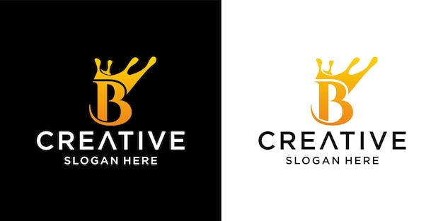 文字クラウンのロゴデザイン