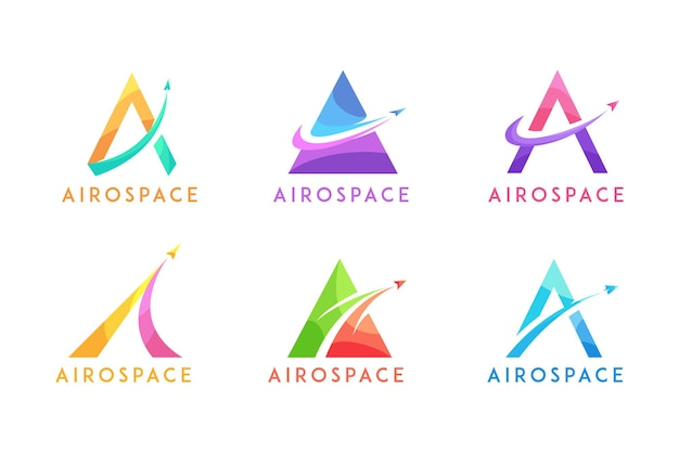 航空宇宙抽象ロゴモダンの文字a