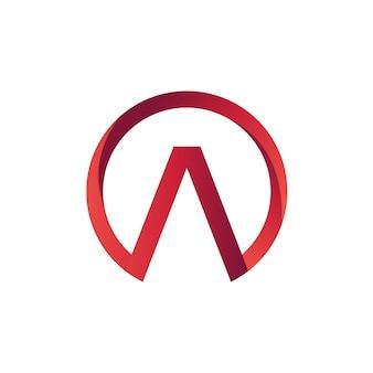 Письмо a в шаблоне логотипа круга