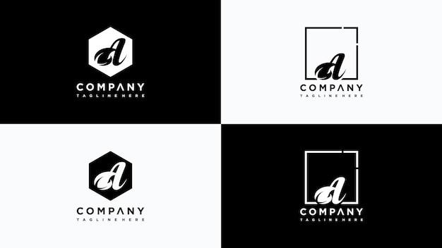 Буква a лист дизайн логотипа вектор premium векторы