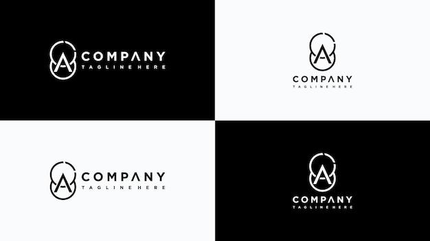 Буква a дизайн логотипа premium векторы