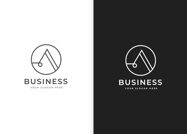 Письмо шаблон дизайна логотипа с формой круга. векторные иллюстрации