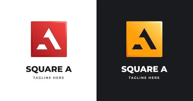 Письмо шаблон дизайна логотипа в стиле квадратной формы