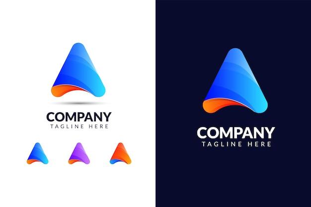Письмо шаблон дизайна логотипа с треугольной формой