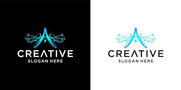 文字aのロゴデザイン