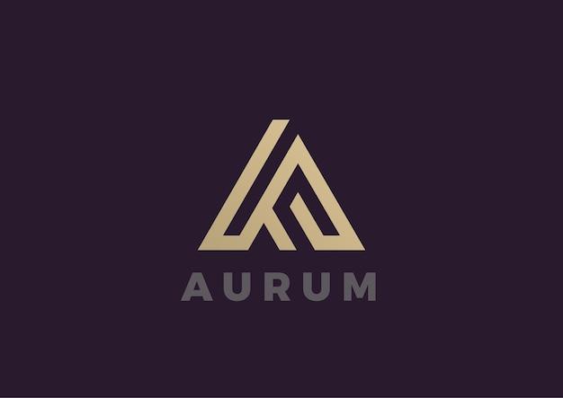 Письмо а логотип. линейный стиль