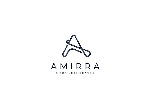 Письмо минималистский шаблон дизайна логотипа