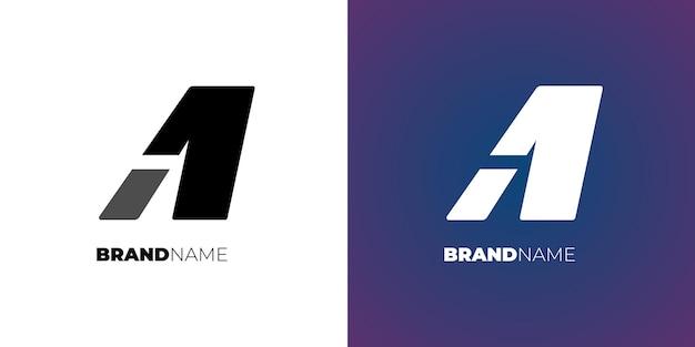 편지 또는 간단한 로고 디자인 개념 기업의 정체성 템플릿 기호 벡터 일러스트 레이 션