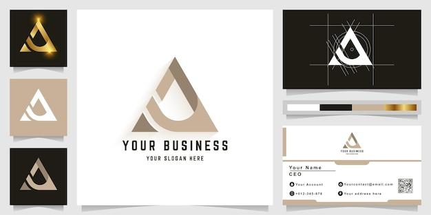 명함 디자인의 문자 a 또는 aa 모노그램 로고