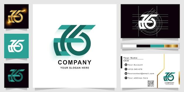 명함 디자인이 있는 편지 또는 g 모노그램 로고 템플릿