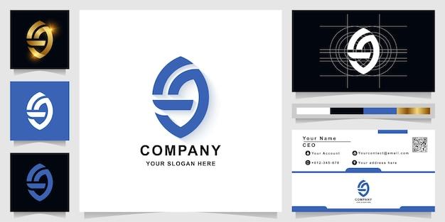 명함 디자인의 문자 또는 g 모노그램 로고 템플릿