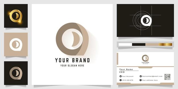 편지 o 또는 명함 디자인의 모노그램 로고